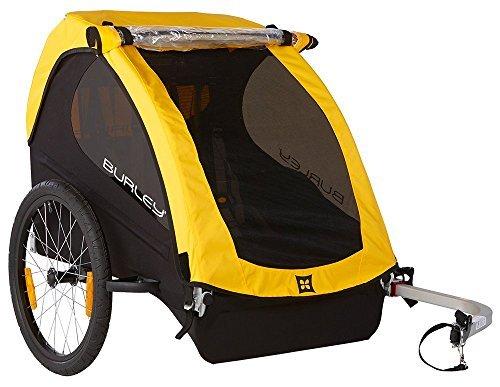 51BEmzdx+CL - Burley Fahrrad Kinder Anhänger BEE Gelb faltbar 2 Sitzer Flex Connector, 946203