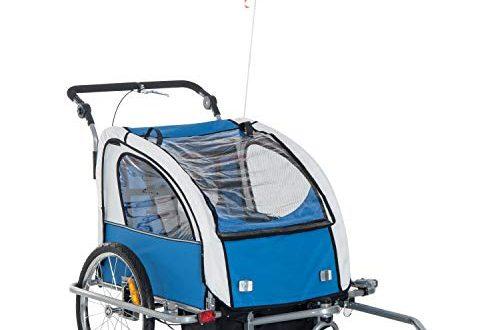 1587926755 418 HOMCOM 360° Drehbar Kinderanhaenger 2 in 1 Fahrradanhaenger Jogger 5 500x330 - HOMCOM 360° Drehbar Kinderanhänger 2 in 1 Fahrradanhänger Jogger 5 Farben (Blau-Grau)