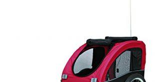 Trixie 12814 Fahrrad Anhaenger M 63 × 68 × 75137 cm 310x165 - Trixie 12814 Fahrrad-Anhänger, M: 63 × 68 × 75/137 cm, schwarz/rot