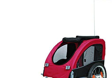 Trixie 12814 Fahrrad Anhaenger M 63 × 68 × 75137 cm 473x330 - Trixie 12814 Fahrrad-Anhänger, M: 63 × 68 × 75/137 cm, schwarz/rot
